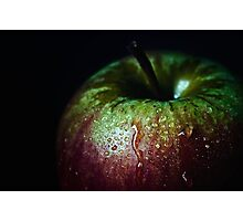 low key apple Photographic Print