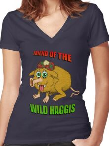 Friend of The Wild Haggis Women's Fitted V-Neck T-Shirt