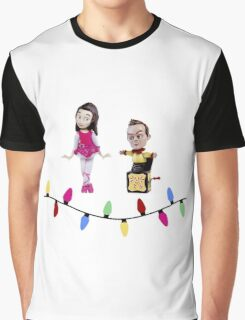 Stop Motion Christmas - Jeff/Annie (Style B) Graphic T-Shirt