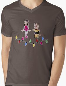 Stop Motion Christmas - Jeff/Annie (Style B) Mens V-Neck T-Shirt