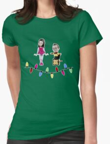 Stop Motion Christmas - Jeff/Annie (Style B) Womens Fitted T-Shirt