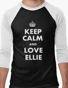 The last of us keep calm and love ellie Men's Baseball ¾ T-Shirt