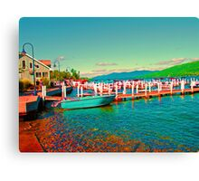 Psychedelic Boat Canvas Print