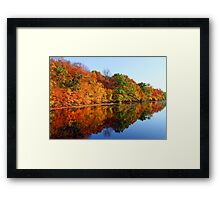 Mirrored Palette - Fall Colors Framed Print