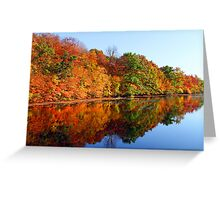Mirrored Palette - Fall Colors Greeting Card