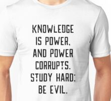 Knowledge is Power (white) Unisex T-Shirt