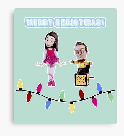Stop Motion Christmas - Jeff/Annie (Style C) Canvas Print