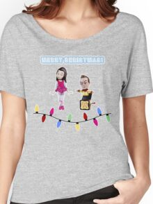Stop Motion Christmas - Jeff/Annie (Style C) Women's Relaxed Fit T-Shirt