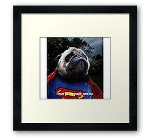 Super Pug Framed Print