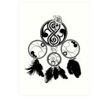 Gallifreyan Dream Catcher Art Print