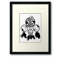 Gallifreyan Dream Catcher Framed Print