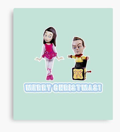 Stop Motion Christmas - Jeff/Annie (Style D) Canvas Print