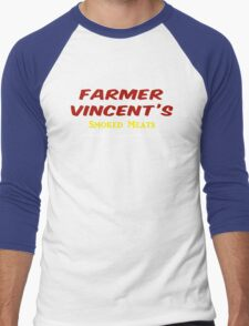 Farmer Vincent's Smoked Meats Men's Baseball ¾ T-Shirt