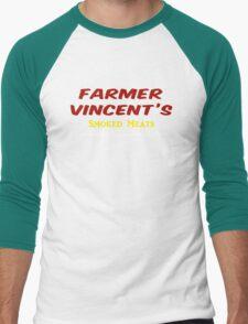 Farmer Vincent's Smoked Meats Men's Baseball ¾ T-Shirt
