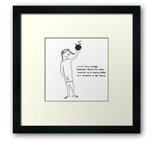 Little Suzie Wonder Framed Print