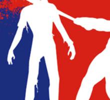 Zombie Down Baseball style Sticker