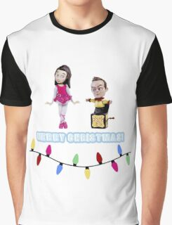 Stop Motion Christmas - Jeff/Annie (Style E) Graphic T-Shirt