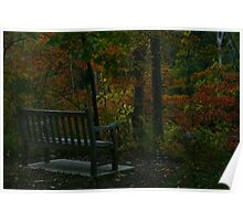 Bench in the Fall Poster