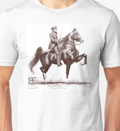 Red Frontier Wing Commander American Saddlebred Drawing 1984 Unisex T-Shirt