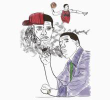 Drake, Lil Wayne, Jay-Z, and Derrick Rose. by zzdrkzz