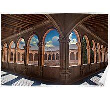 Spain. Salamanca. San Esteban Church. Cloisters. Poster
