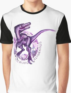 Asexual Alioramus (with text)  Graphic T-Shirt