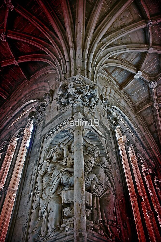 Spain. Salamanca. San Esteban Church. Cloisters. Sculpture. by vadim19
