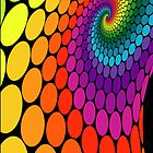 rainbow swirl dots by sabrina card
