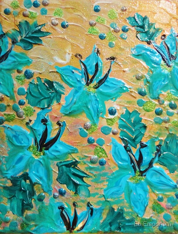 BLOOMING BEAUTIFUL Modern Abstract Acrylic Tropical