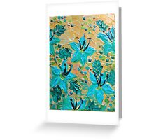 BLOOMING BEAUTIFUL - Modern Abstract Acrylic Tropical Floral Painting, Home Decor Gift for Her Greeting Card