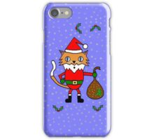 Santa Claws - The Christmas Cat iPhone Case/Skin