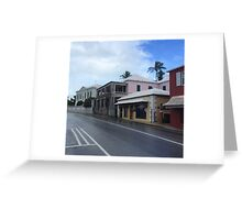 Candy-Colored Casas Greeting Card