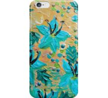 BLOOMING BEAUTIFUL - Modern Abstract Acrylic Tropical Floral Painting, Home Decor Gift for Her iPhone Case/Skin