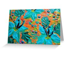 BLOOMING BEAUTIFUL 2 - Modern Abstract Acrylic Tropical Floral Painting, Home Decor Gift for Her Greeting Card
