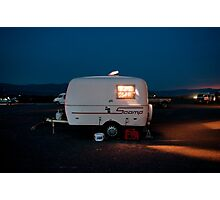 Lonely Death Valley Camping Trailer Photographic Print
