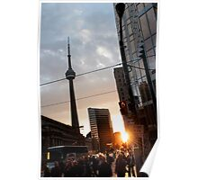 Downtown Toronto Sunset 2 Poster
