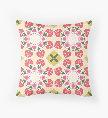 Delicate pink pattern Throw Pillow