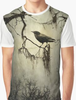 Winter Crow Graphic T-Shirt