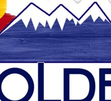 Golden Colorado wood mountains Sticker