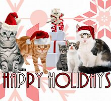 Holiday Cats - Card by Doreen Erhardt