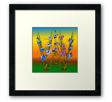 Patch Of Blues Framed Print