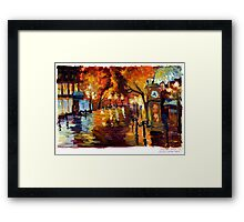 Water Street in Gastown, Vancouver, BC. Framed Print