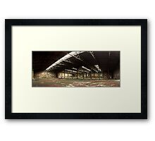 Locomotive depot Framed Print