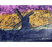 """Pastel Windmill""  by Carter L. Shepard Photographic Print"
