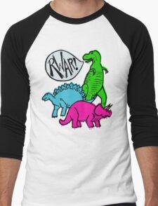 Dino Party Men's Baseball ¾ T-Shirt