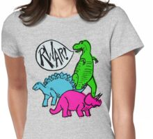 Dino Party Womens Fitted T-Shirt
