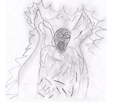 Weeping angel  Favourite  creatures from Dr who  Photographic Print