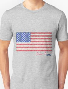 Ron Hedges - Woodland Camo Flag Unisex T-Shirt