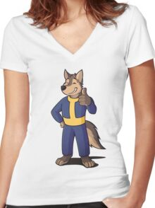 Animal - Vault Dog Mark .2 Women's Fitted V-Neck T-Shirt