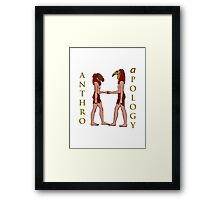 An Anthro Apology Greeting Framed Print